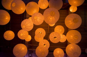 Paper Lanterns From Below