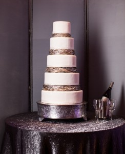 Yellow, Black, White, and Silver Cake Accents