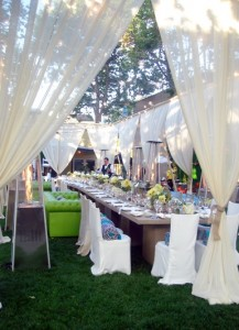 Dramatic Outdoor Draping