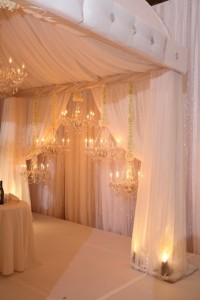Luxurious White Draping